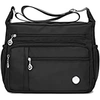 KARRESLY Women's Shoulder Bags Travel Handbag Messenger Cross Body Nylon Bags with Lots of Pockets