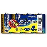 東芝 アルカリ乾電池 単1形1パック4本入 LR20L 4MP