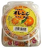 丸川製菓  容器入りオレンジマーブルガム  6粒×40個