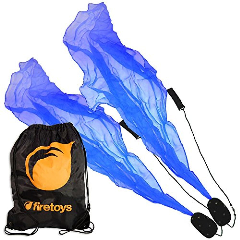 Blue Pyropixies Beginner Spiral Practise Poi & Firetoys Tote Bag