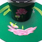 遊生活・竜玉堂 グラスに花咲く イリュージョンコースター蓮・グラスセット プレゼント 布製