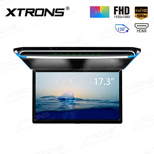 [해외](CM173HD) XTRONS 최신 17.3 인치 대화면 플립 다운 모니터 16 : 9 FHD 1920x1080 해상도 초박형 HDMI 지원 1080P 영상 대응 외부 입력 문 연동 수평 개폐 130도 USB · SD/(CM173HD) XTRONS newest 17.3-inch large screen flip down monitor 16: 9...