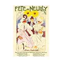 Ad Exhibition Event Fet Neuilly France Electric Nouveau Wall Art Print 展示会フランス電気のヌーボー壁