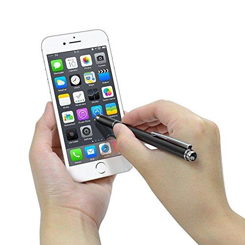 『Coziwo タッチペン 極細 2in1 スタイラスペン 1本+交換用ペン先3個 スマートフォン ipad タブレット iphone android スマホ 対応 イラスト ツムツム ゲーム 絵描き用(ブラック)』の6枚目の画像