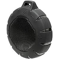 オウルテック Bluetooth 防水スピーカー 最大8時間再生可能  防水?防塵性能IP66取得 水に落としても浮くので大丈夫! マイク機能 カラビナ付 5W  ブラック 1年保証 OWL-BTSPWP01-BKAMZ