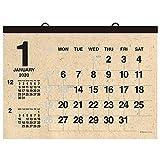 超大判で文字が大きいので広い場所での使用に適しています。<br>書き込みスペースが広いので使いやすく、<br>自然な風合いの雰囲気ある仕上がりになっており、<br>どこに掛けても目立つ人気のカレンダーです。<br><br>【内容】<br>●サイズ:W860×H615mm<br>●日曜始まり<br>●1カ月1ページ(全12ページ)<br>●壁掛カレンダー<br>●前月と翌月の小カレンダー付<br>●プラホルダー製本<br>●包装:ポリ筒入
