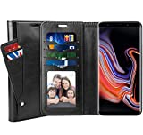 SUPTAMX Galaxy Note 9 ケース Samsung Galaxy Note 9 手帳型ケース ギャラクシー Note 9 ケース 高級レザー マグネットデザイン スタンド機能 カード収納可能 耐摩擦 SC-01L SCV40?(Galaxy Note 9, ブラック)