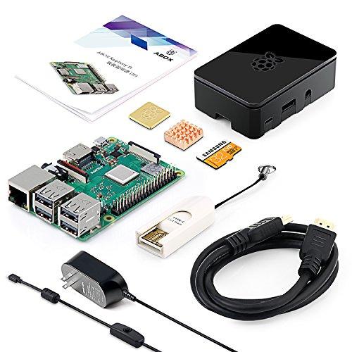 ABOX Raspberry Pi 3 Model b+ ボード&専用ケースセット ラズベリーパイ 3 b+ スターターキット 豊富な付属品 32GSDカード 【本体+コンプリートスターターキット】