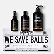 MANSCAPED™ Crop Essentials, Male Care Hygiene Bundle, Includes Invigorating Body Wash, Moisturizing Ball Deodo