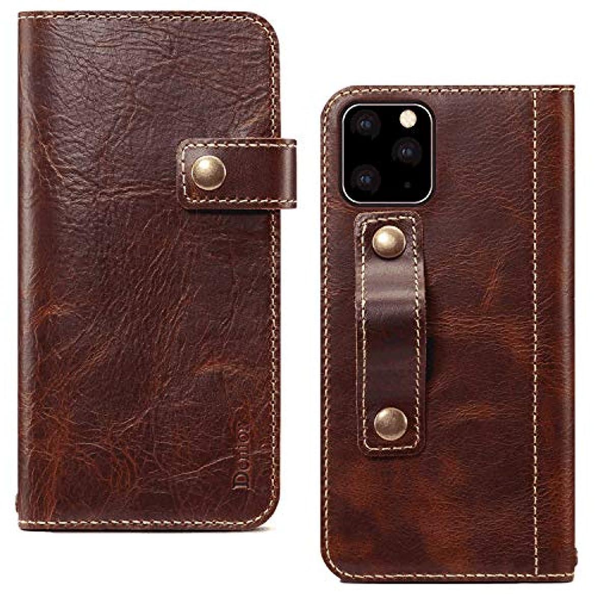 おクレタコイルPUレザー ケース 手帳型 対応 アイフォン iPhone XR 財布 カバー収納 防指紋 手帳型ケース 本革