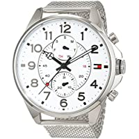 Tommy Hilfiger Men 1791277 Year-Round Analog Quartz Silver Watch