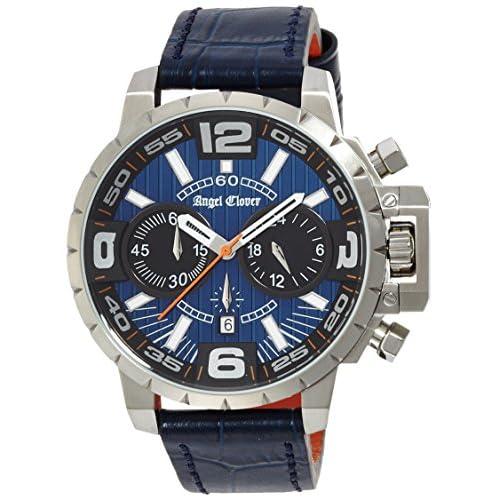 [エンジェルクローバー]Angel Clover 腕時計 タイムクラフト ネイビー文字盤 クロノグラフ デイト NTC48SNV-NV メンズ