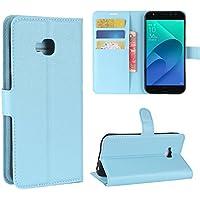 AVIDET ASUS ZenFone 4 Selfie Pro ZD552KL ケース PUレザーカバー 超薄型 最軽量スタンド機能付ケース (ZenFone4 Selfie Pro ZD552KL ブルー)