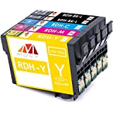 エプソン 互換インク RDH-4CL+ブラック 5色セット (BKL増量*2/C/M/Y) 対応機種:PX-048A PX-049A 残量表示 ICチップ付き 「MONY出品」