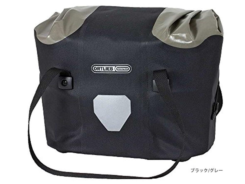 輪郭トランジスタ器官ORTLIEB(オルトリーブ) ハンドルバーバスケット (アタッチメント付属) F79303 ブラック/グレー 16L