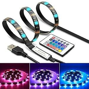 ブライトライン LED60灯搭載 高輝度 テープ ライト テレビ LED バックライト 1メートル 防水 リモコン モニター ディスプレイ BRLINE