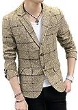 (アウニィ) AUNI メンズ 服 長袖 テーラード ジャケット 防寒 スーツ カジュアル アウター F-038-14 (ブラウン 3L)