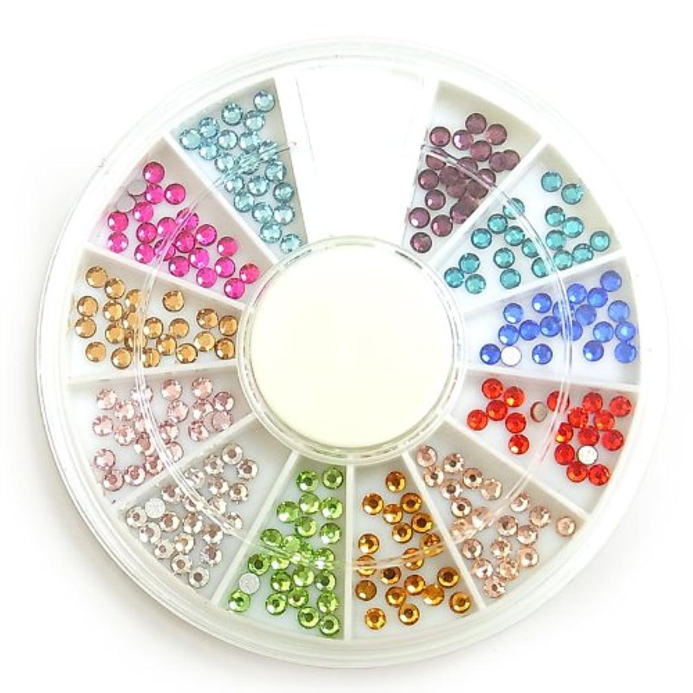 シーン学期インフルエンザガラス製カラーラインストーン?丸2mm約240粒