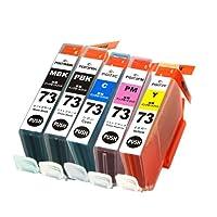 キャノン CANON PGI-73 5色セット(PBK/MBK/C/M/Y) マルチパック チップ付き 汎用・互換 インクカートリッジ