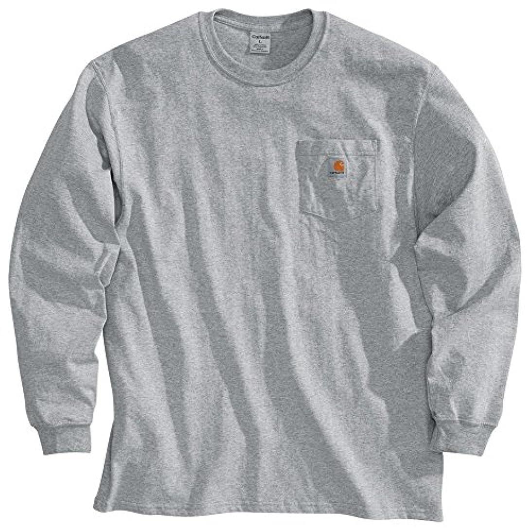 壁紙ペルメル光沢カーハート トップス シャツ Carhartt Men's Workwear Long Sleeve Shir HeatherGre [並行輸入品]