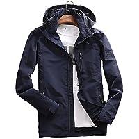 Aeneontrue メンズ パーカー ジャンパー ジャケット 長袖 フード付き ウィンドブレーカー アウトドア コート 刺繍 ファッション 4色展開