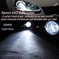 FidgetGear Xenon Replacement Lights HID DC 55W Kit 9006 H11 880 For GMC Sierra 1500 2500 Z1 Light Blue (10000K) H13 (9008) Hi/Lo Dual Beam