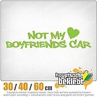 Not my Boyfriends Car - 3つのサイズで利用できます 15色 - ネオン+クロム! ステッカービニールオートバイ