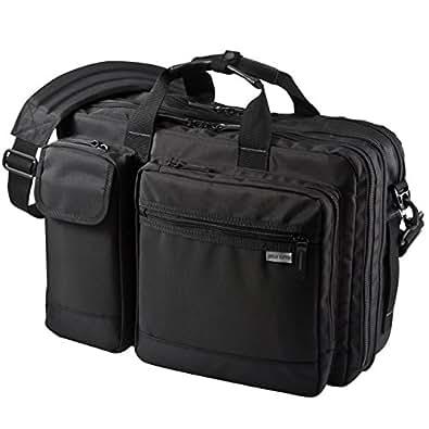 サンワダイレクト 3WAYビジネスバッグ 横背負い 通勤 短期出張対応 A4書類収納 軽量 iPad・タブレット専用収納 最大26L 200-BAG081