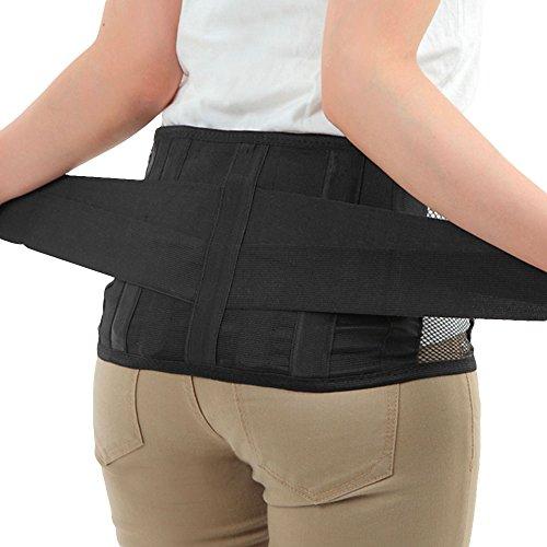 Dr.Q 腰痛ベルト サポートプロ しっかり加圧タイプ 大きいサイズあり 取り外し可能 樹脂ボーン 4本配置 (XXL(105-120cm))