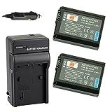 DSTE® アクセサリーキット NP-FW50 互換 カメラ バッテリー 2個+充電キット対応機種 Alpha 7 7R II 7S a7 a7R a7S a7R II Alpha a3000 a5100 a6000 NEX-3 NEX-5 N...