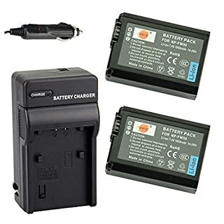 DSTE® NP-FW50 互換 カメラ バッテリー 2個+充電キット