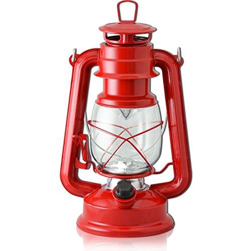 FIELDOOR アンティーク LEDランタン 【レッド】 暖色 明るさ無段階調整 グランピング オーナメント 吊るし キャンプ BBQ オイルランプ風