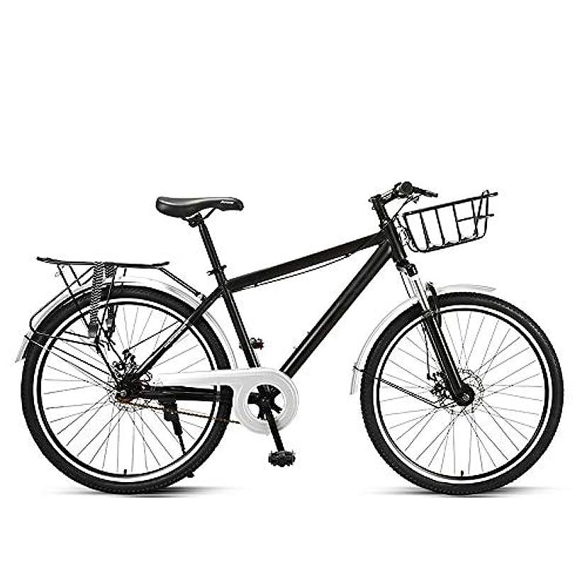 エゴマニア海峡哲学的通勤自転車自転車女性の軽い大人のレトロな街の男性は普通の旅行に乗るために仕事に行きます