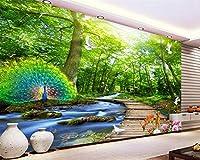 Minyose 壁紙 注文の現代居間の背景の壁3Dの壁紙壁の3Dのためのヨーロッパのローズローズの花の壁紙