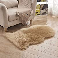 カタク(KATAKU) ムートンラグ 1匹物60*120CM シャギー マット 可愛い羊型 もこもこ 柔らかい 毛長約50-60mm 人工ウール 洗える 絨毯 ソファー/椅子敷物 年中 ムートンフリース カーペット  ラグマット カーキ