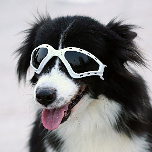 PETLESO 犬サングラス 中大型犬用 ゴーグル 固定ベル...