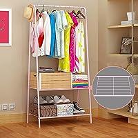 QFFL 家庭用フロアリングコートラック/ベッドルーム/単純ハンガー/現代のアセンブリハンギングラック(4つのスタイルはオプション) コートラック (色 : D-Pink)