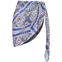 Ekouaer Womens Beach Short Sarong Sheer Chiffon Cover Up Soild Color Swimwear Wrap