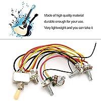 1フルセットlp sgエレキギターピックアップ配線ハーネスポテンショメータキットの交換3ウェイトグルスイッチギターアクセサリー