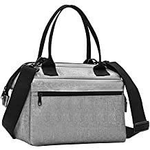 TheFellie Lunch Box Insulated Lunch Bag for Women Men Meal Prep Cooler Bag Waterproof Thermal Bento Bag for Office, School, Picnic, Grey