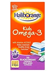 Haliborange Omega-3 Fish Oil Blackcurrant Chewy Capsules (90) by Grocery [並行輸入品]