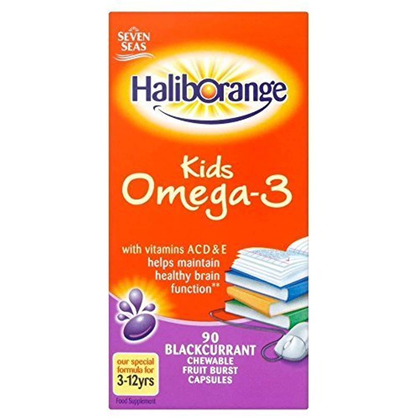 味方のぞき穴ローマ人Haliborange Omega-3 Fish Oil Blackcurrant Chewy Capsules (90) by Grocery [並行輸入品]