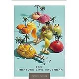 ハゴロモ MINIATURE LIFE CALENDAR 2022年 カレンダー 壁掛け CL22-466 白
