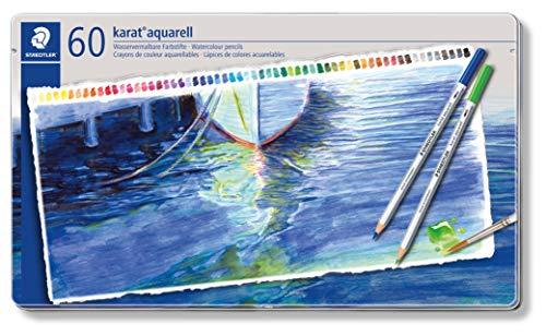 ステッドラー カラトアクェレル水彩色鉛筆 60色セット