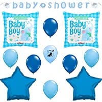 It 's A BoyベビーシャワーElephant Balloons Decoration Suppliesセット