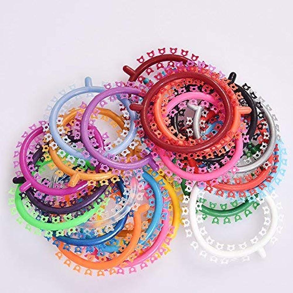 アフリカ人着るかき混ぜる歯矯正歯用の40本の括弧バンド 25sticks 1000輪 治療用プラスチック合体 Annhua