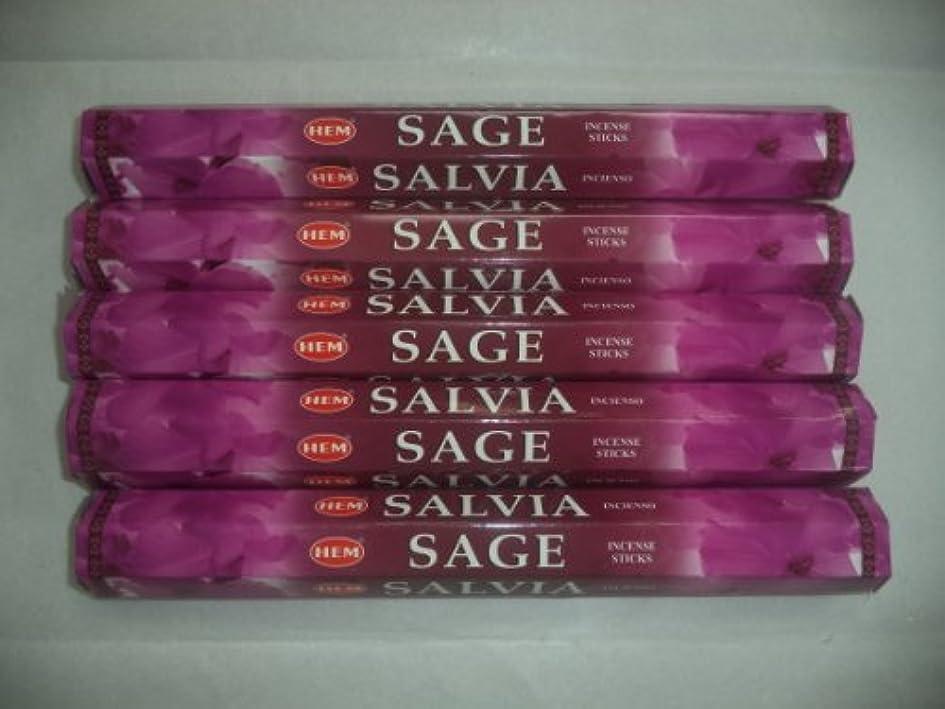 ねばねば日付付き灰Hemセージ100 Incense Sticks (5 x 20スティックパック)
