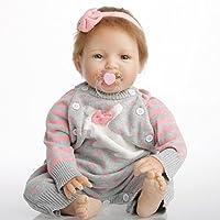 NPK collection Rebornベビー人形リアルな赤ちゃん人形ビニールシリコン赤ちゃん22インチ55 cm人形新生児赤ちゃん人形ピンクウール人形
