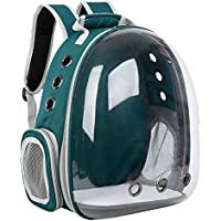 TOOGOO Dog Cat Transparent Space Capsule Breathable Shoulder Bag Pet Outside Travel Portable Carry Backpack Dogs Cat Carrying Cage Green