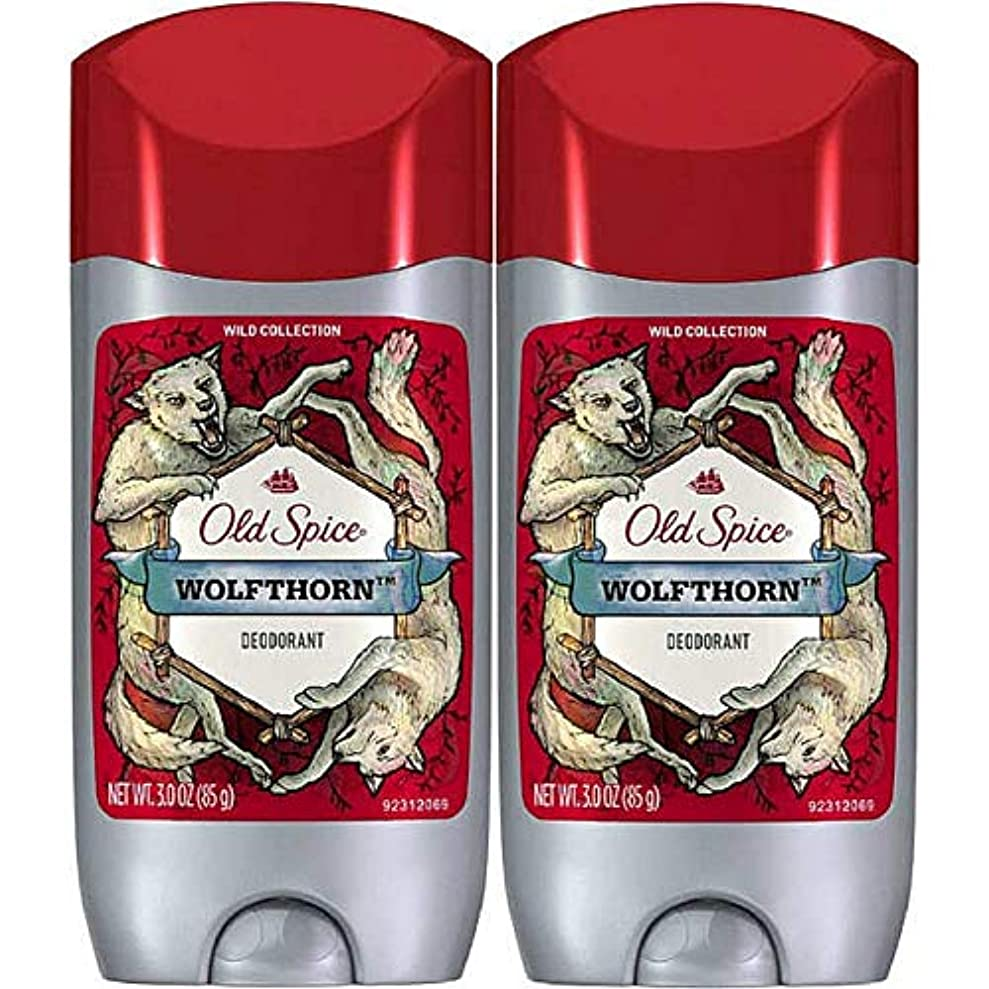 エーカー幻影予防接種Old Spice ワイルドコレクションデオドラント、Wolfthorn、3オンス(2パック)